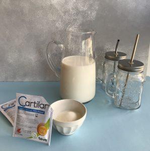 cartilar, azúcar y leche