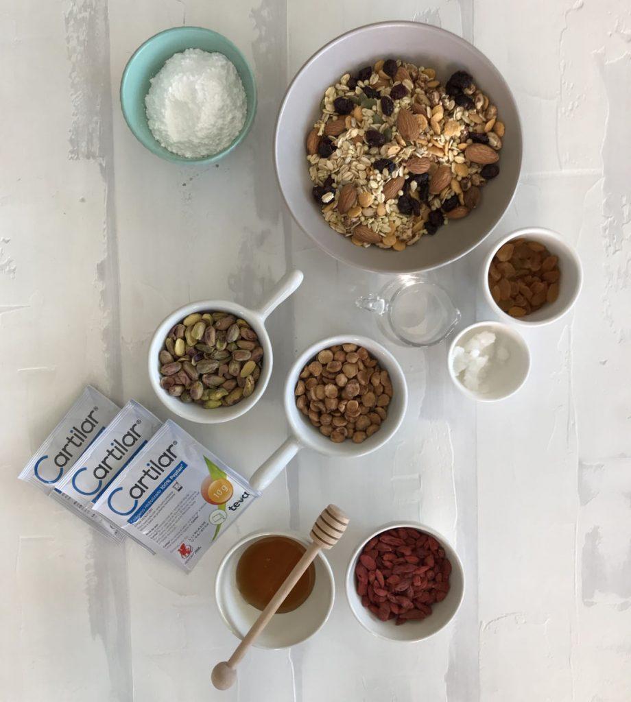 ingredientes frutos secos y cartilar