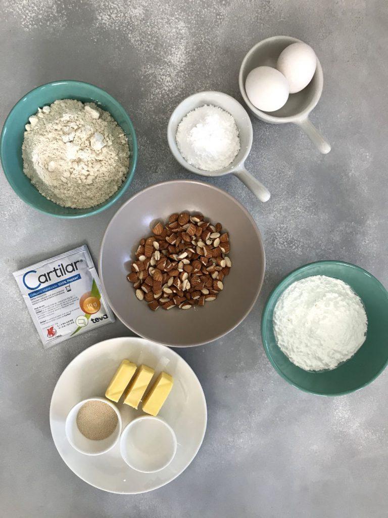 ingredientes para galletas con Cartilar